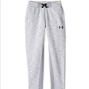 Boys Under Armour Select Fleece Steel/Black Pants